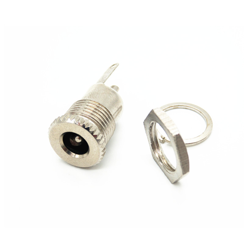 EziUsin 5.5 mm x 2.1mm <font><b>DC</b></font> Power Jack Socket Female Panel Mount Connector 5.5*2.1 5.5*2.5 5.5 x 2.5 dc099 image