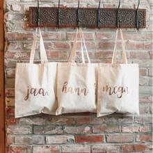 Индивидуальное имя для свадьбы, невесты, подружки невесты предложение горничной Honor холщовые сумки-тоут свадебный душ подарок компании сумки вечерние сувениры