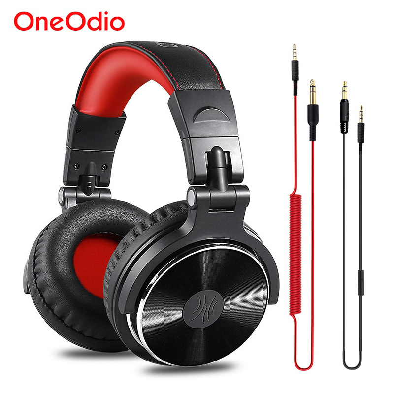 Oneodio Professional DJ Headphones Studio Monitor DJ Headset With Microphone HIFI Wired Gaming Headset For Phone PC Adapter Free