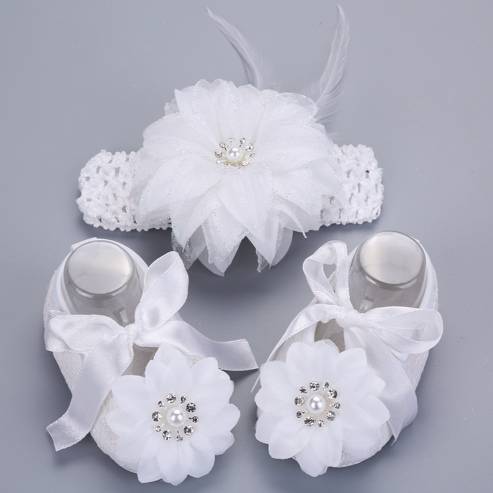 2016 newborn baby girl shoes brand white baptism toddler for Baby girl fabric
