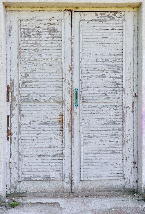 Huayi Pintu Tua Fotografi Latar Belakang Pemandangan Kustom Foto Potret Studio Lusuh Pedesaan