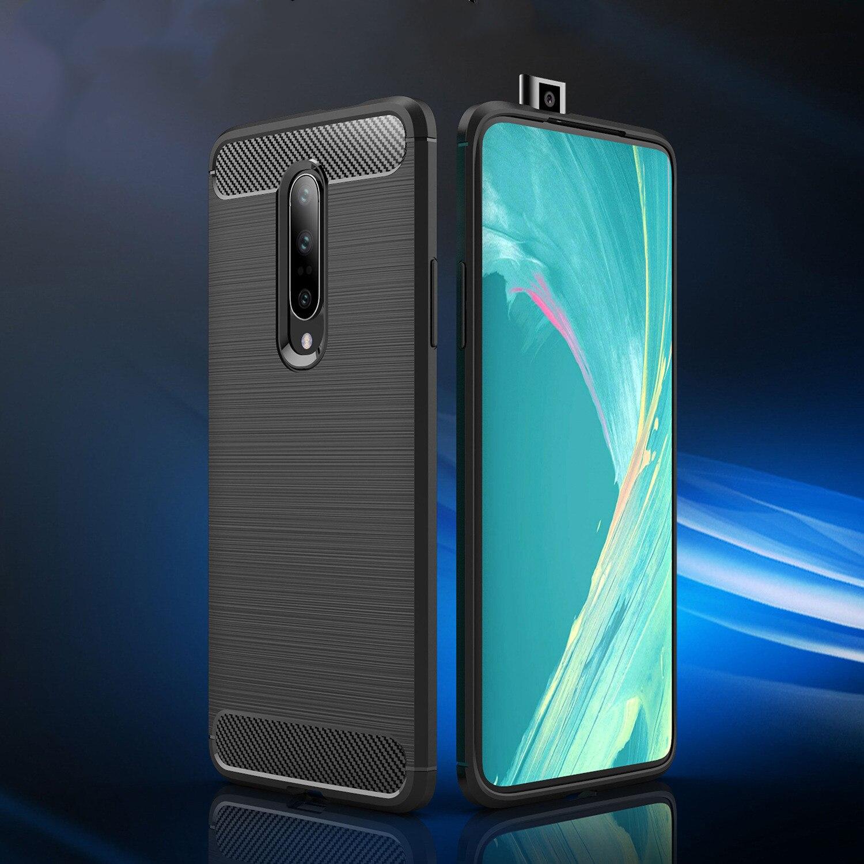 font b OnePlus b font 6 6T Case Soft Silicon Case TPU Cover Carbon Fiber
