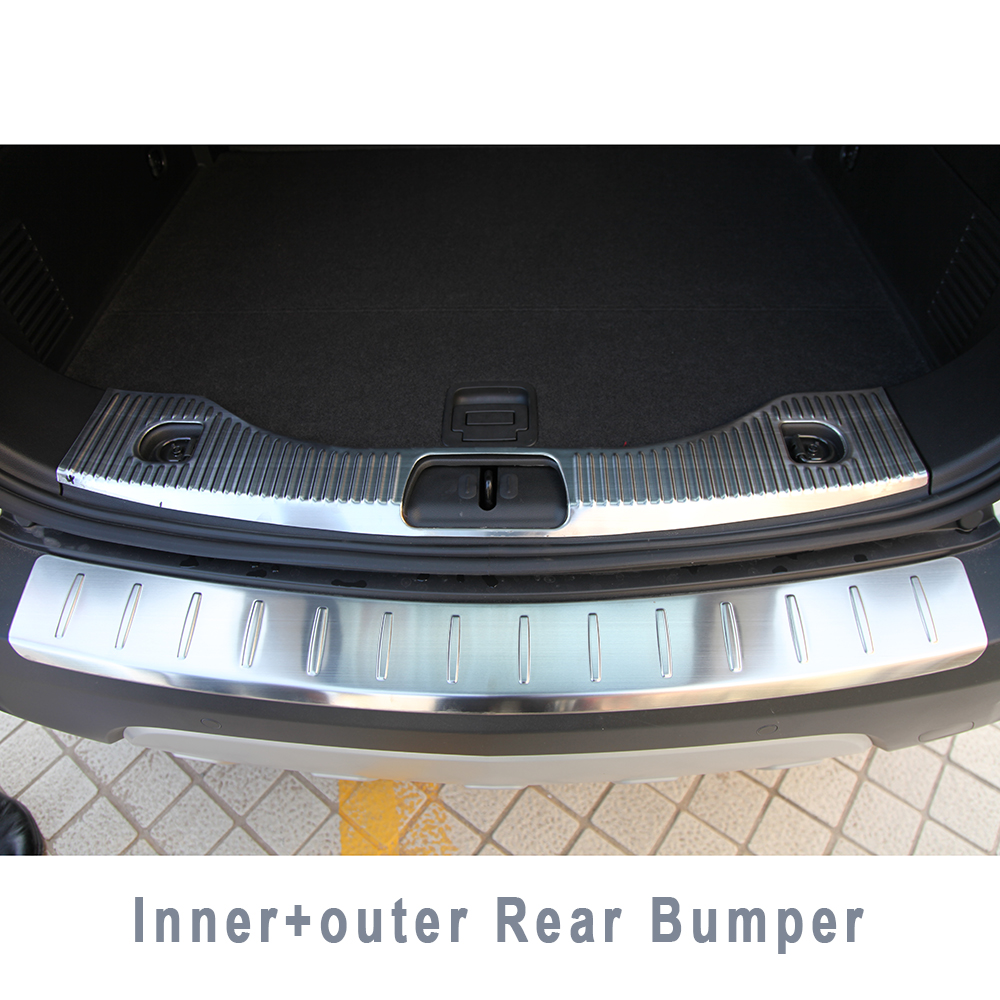 STAINLESSSTEEL REAR BUMPER PROTECTOR TRIM COVER PLATE CHROM ACCESSORIES FOR 2013 2014 OPEL VAUXHALL MOKKA BUICK ENCORE предупреждающие индикаторы pawaca rear end buick