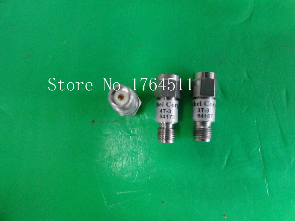 [BELLA] WEINSCHEL 4T-3 DC-18GHz 3dB 2W SMA RF Coaxial Fixed Attenuator  --2PCS/LOT