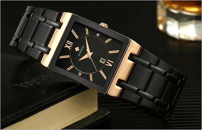 HTB1TRt8afWG3KVjSZFgq6zTspXa7 Men Watches Top Brand Luxury WWOOR Gold Black Square Quartz watch men Waterproof Golden Male Wristwatch Men watches