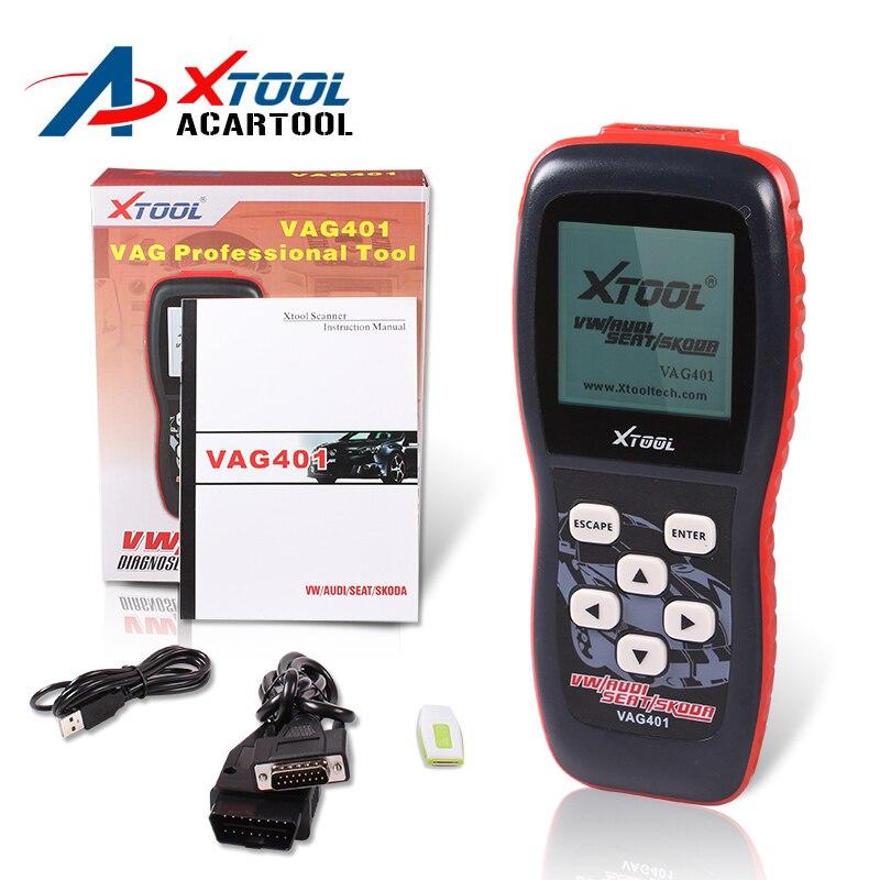 Prix pour 100% D'origine XTool VAG401 pour AUDI/VW/SEAT/SKODA vag 401 Super VAG OBDII Scanner xtool vag401 livraison gratuite