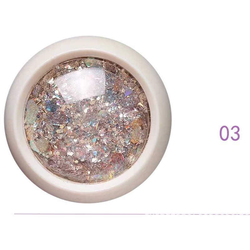 Caixa Prego Sereia Sparkly Glitter Flakes 1 3D Hexágono Lantejoulas Coloridas Lantejoulas Polonês Manicure Nails Art Decorações