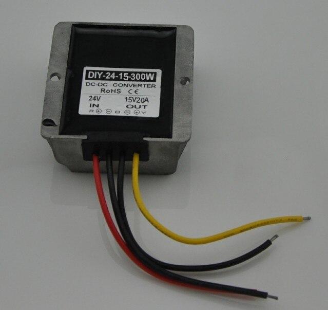 24V36V (19 V-40 V) à 15 V 20A 300 W DC DC Buck convertisseur abaisseur Module adaptateur d'alimentation de voiture régulateur de tension étanche
