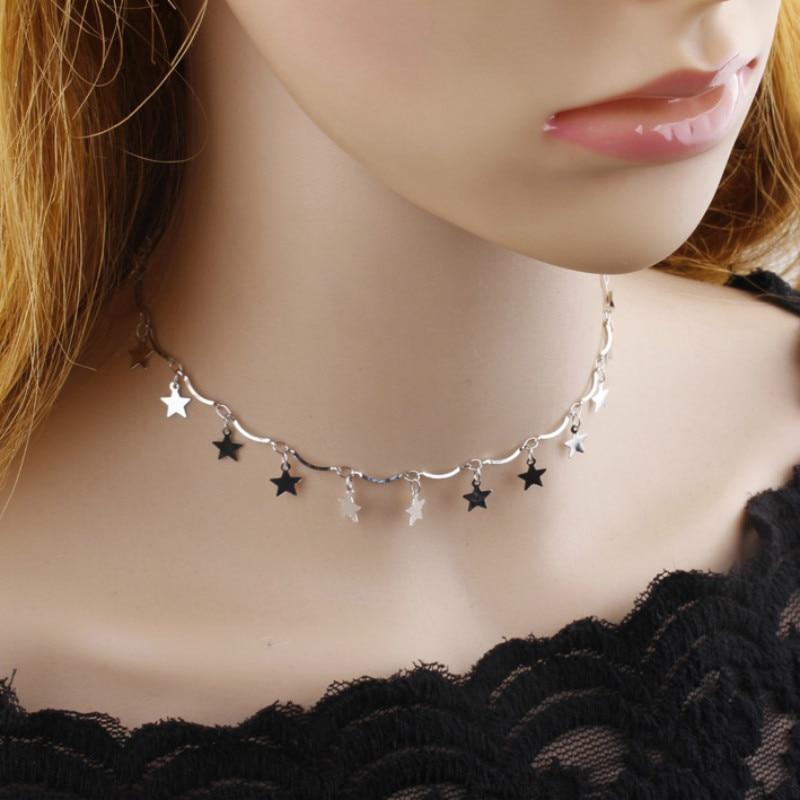 HTB1TRtRSFXXXXcCXVXXq6xXFXXXU - FREE SHIPPING Chocker  Gold  Star Maxi Choker Necklace for Women JKP326