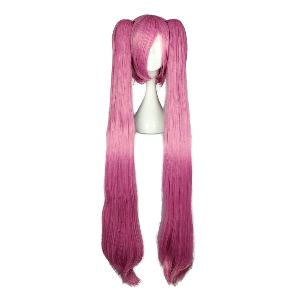 """MCOSER 110cm 43.3"""" Cosplay Hair Synthetic Multi color Short Wig With Two Ponytails Party free shipping WIG-572C"""