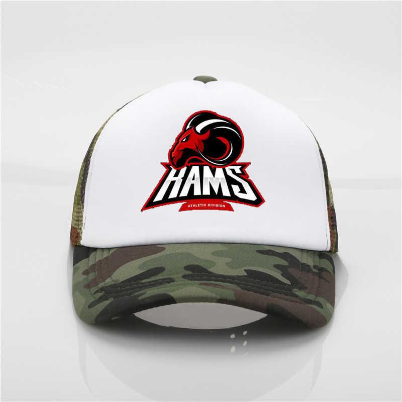 4fabe0c0 Fashion Hat Horses Rams Bulls Sport Club pattern printing net cap baseball  cap Men women Summer Cap Youth sun hat Beach Visor