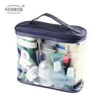 Sacos de viagem transparente à prova dwaterproof água dos homens kit de higiene pessoal pvc zíper saco cosmético grande capacidade maquiagem bolsa de armazenamento senhora