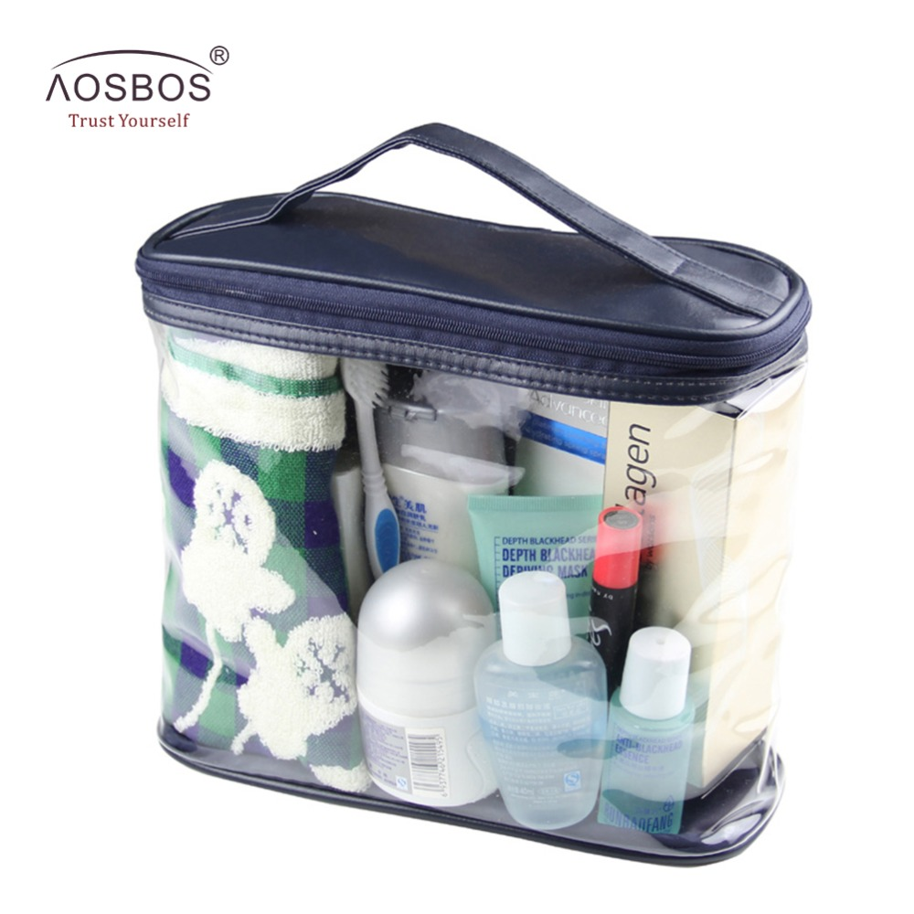 Travel Transparent bags Waterproof Women Men Toiletry Kit PVC Zipper cosmetic Bag Large Capacity Makeup Storage Pouch bag Lady