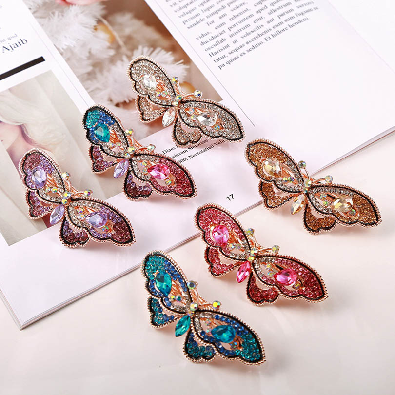 Haimeikang Hair Clips For Girls Female Butterfly Shap Hairclips   Headwear   Barrette Hairgrips Hair Ornament Hair Accessories