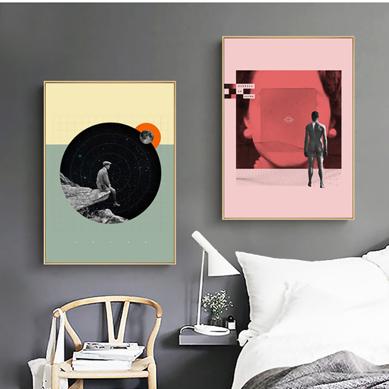 nordic canvas printed poster home decorative minimalist abstract ideas painting wall artwork pictures living room modular framed
