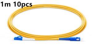 Image 2 - Fibra Óptica Patchcord 1m 2m 3m 10pcs Cabo Óptico SC para LC UPC Simplex 2.0 milímetros PVC Single Mode UPC FTTH Fiber Patch Cable Jumper