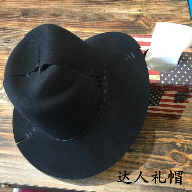 Europe and the United States M standard cut suture hat retro nostalgia edition female hat stitching wide-brim hats