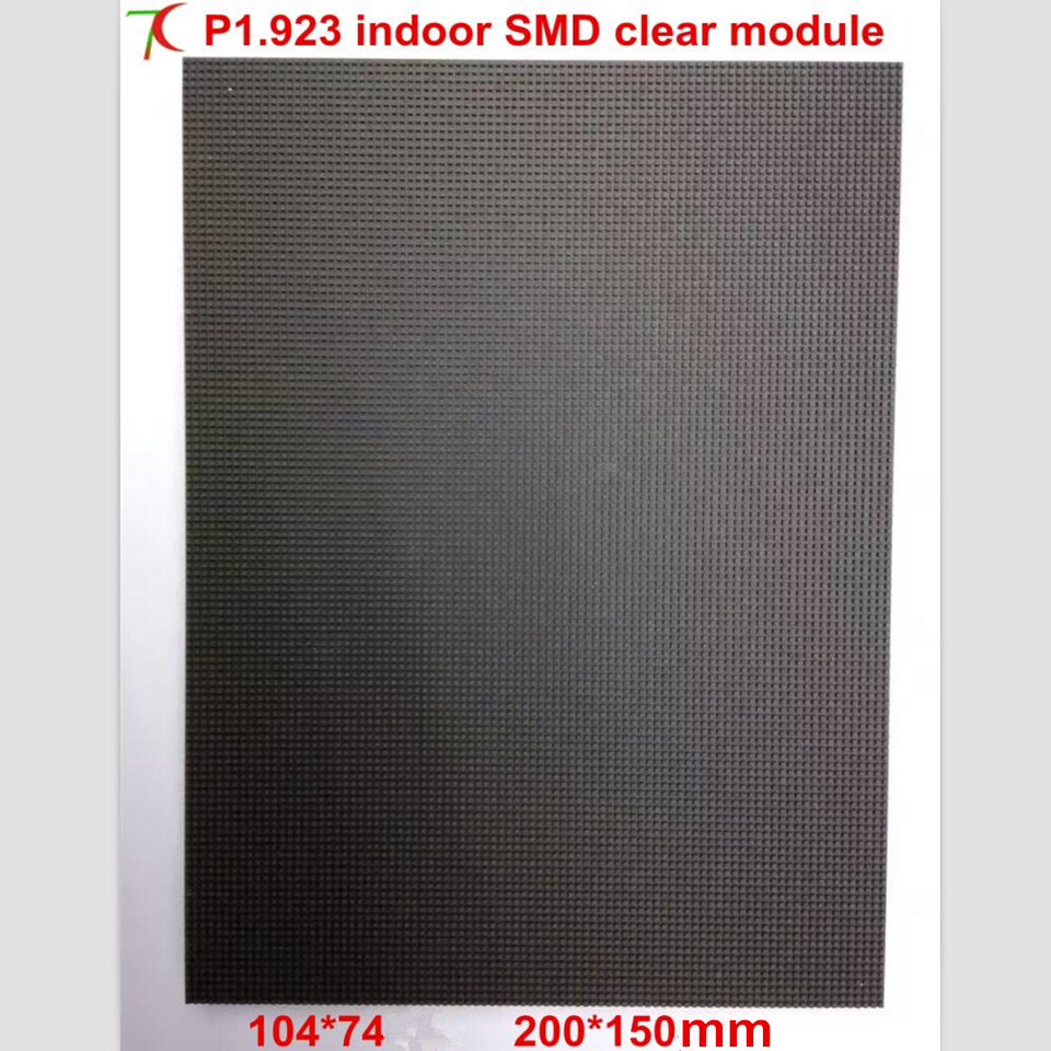 Normal Brightness P1.923 Minimal Spacing Indoor 32scan  Full Color Module For Video Wall ,led Board,200*150mm,1400cd