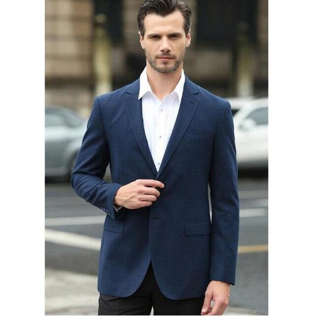Горячей продажи осенью новый досуг мужской пиджак один слой формальные occasio классический дизайн два зерна пряжки костюм ja