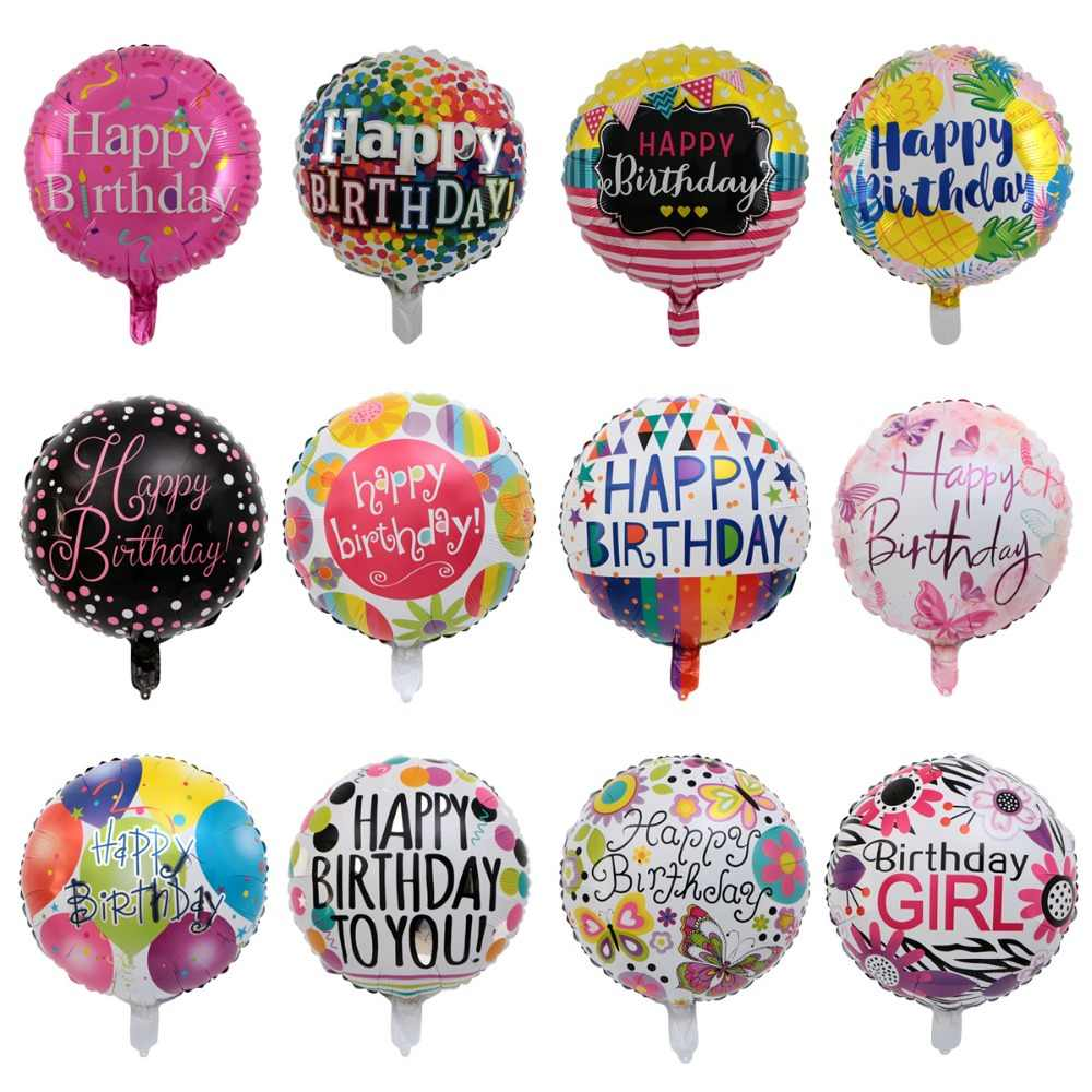 New 18inch 1pcs Happy Birthday Foil Balloons Birthday Party Decor Pineapple Helium Balloons Flamingo Party Supplies