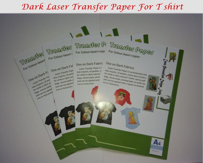 Dark Color 10*A4 Laser Transfer Paper T shirt Fabric