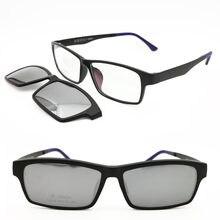 Поляризационные солнцезащитные очки для близорукости с клипсой