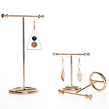 Jewelry Display Stand Show Rack Metal Alloy Gold Earring for Earrings Necklace Jewlry Showcases шкатулка для украшений