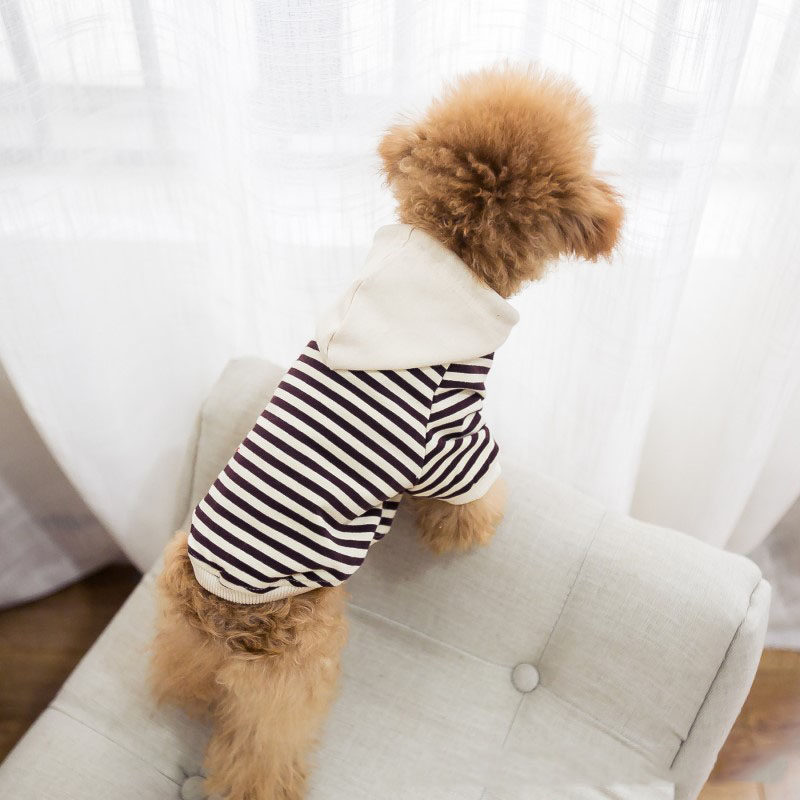 Cotton Striped French Bulldog Hoodies Pet Dog Clothes For Small Dogs Pets Clothing Chihuahua Clothes Pug