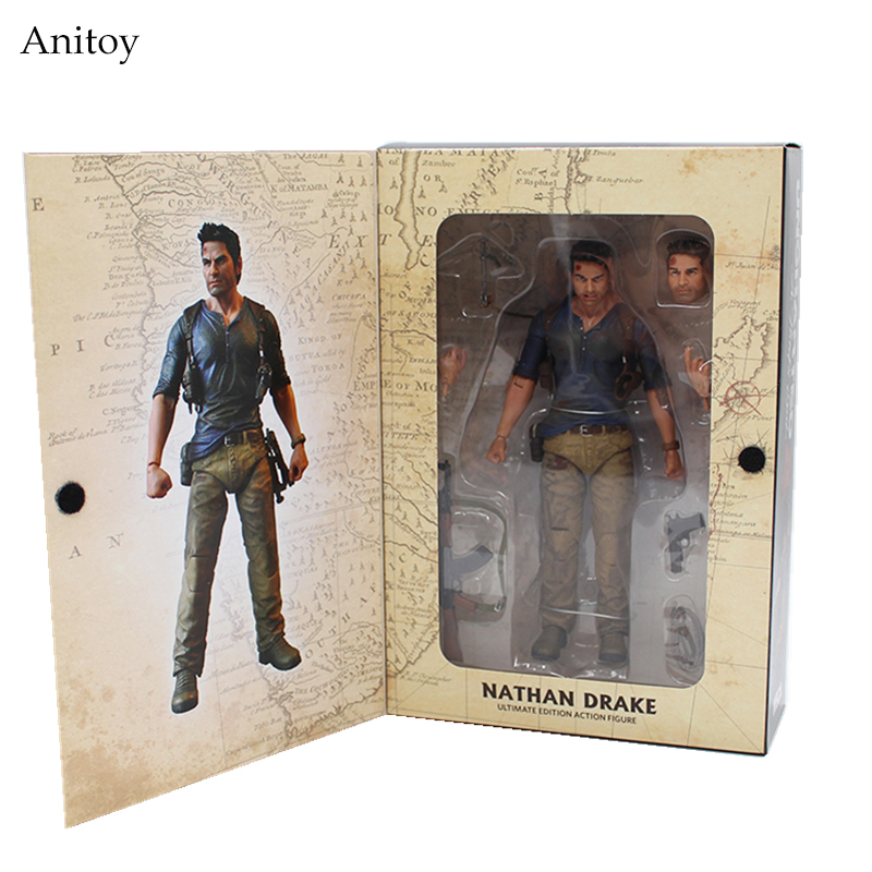 NECA Uncharted 4 A thief's end NATHAN DRAKE Ultimate Edition PVC Action Figure Collectible Model Toy 7 18cm KT3423 neca epic marvel deadpool ultimate collectible 1 4 scale action figure model toy 16 45cm ems free shipping