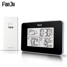 Digital Weather Station Wireless Sensor Hygrometer Thermometer Multi function LED desktop Table clock Alarm
