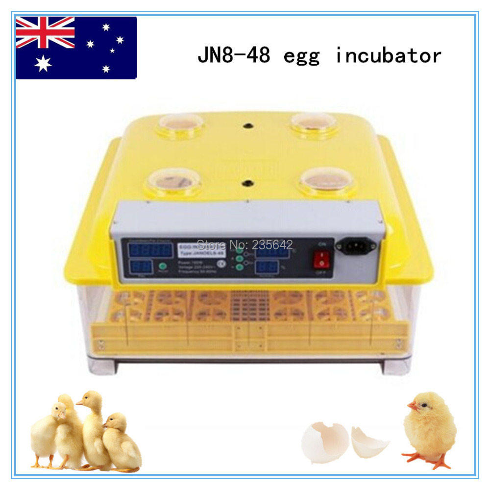 fully automatic digital thermostat for JN8-48 chicken egg incubator with high quality(CE approved) eu au ce approved 2015 hot sale jn10 mini egg incubator with high quality