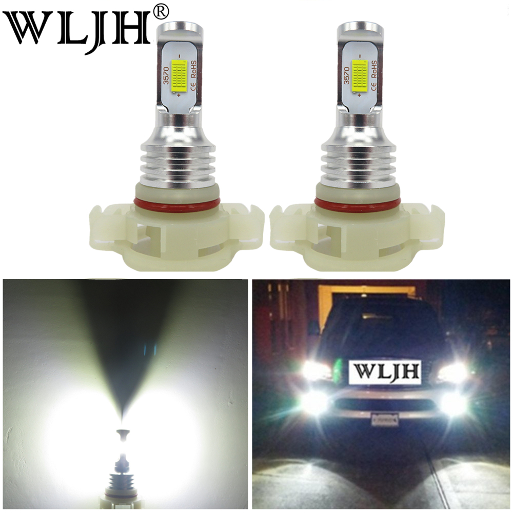 WLJH 2x 12V 24V High Bright Canbus PSX24W Fog Light LED Bulb 2504 Led Daytime Running Lamp LEDs For Jeep Wrangler Subaru Impreza