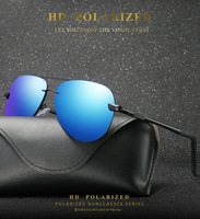 New aluminum magnesium frameless sunglasses polarized men's sunglasses and women's fashionable outdoor sunglasses