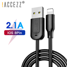 !ACCEZZ TPE USB Charging Cable Lighting For IPhone X XS MAX XR Charger Cord Apple Phone 8 7 6 6S Plus Charge Sync Data Line