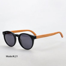 big sale L21 popular full rim UV400 sunglass with wood temple sunglasses sunshades spectacles