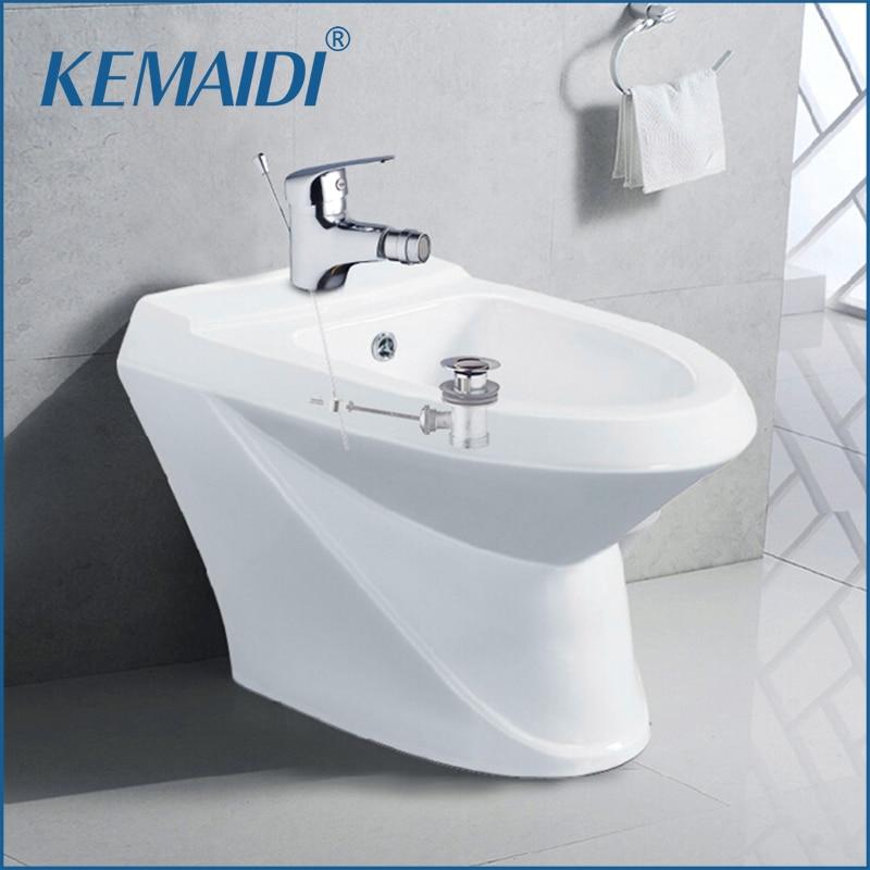 KEMAIDI Bidet Faucets Torneira Woman Bathroom Faucet Pop Up Drain Deck Mounted 97118 Chrome Basin Sink