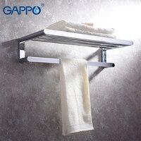 GAPPO Towel Bars bath hardware accessories stainless steel towel rack wall mounted bathroom towel holder hangers