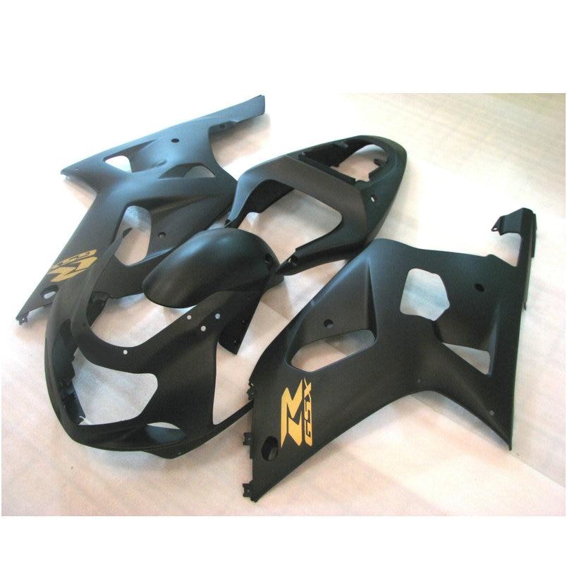 Custom free Injection fairing for SUZUKI 2002 2003 GSX R600 2001 GSXR 750 K1 GSXR600 01 02 03 GSXR750 matte black body fairings