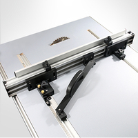 Table Saw Fence System for Woodworking Circular Saw DIY Tools 75mm Height with T tracks + Slot Miter Track Jig Fixture