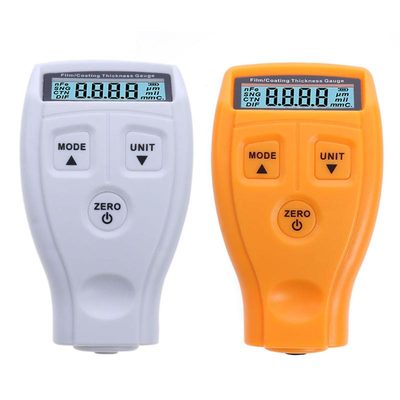 GM200 Pintura Revestimento Tester Medidor de Espessura Digital de Teste de Medição da Espessura da Pintura Do Carro Russo/Inglês Manual