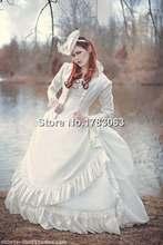 Reproducción victoriano Conjunto de Boda con la Chaqueta de Encargo Vestido/Southern Belle Vestido Recreación de Vestuario Del Teatro