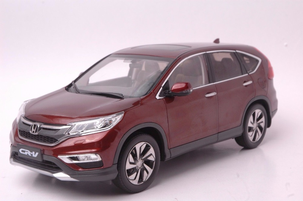 1:18 Diecast Model for Honda CR-V 2015 SUV Brown Rare Alloy Toy Car Miniature Collection Gifts CRV CR V rare gemini jets 1 72 cessna 172 n53417 sporty s flight school alloy aircraft model collection model