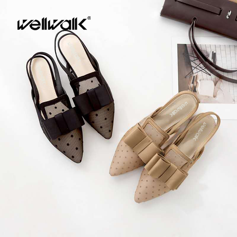 Flat Sandals Women Dress Shoes Sexy Pointed Toe Shoes Ladies Flat Heels Back Strap Female Jerry Sandals Ladies Brand Shoes