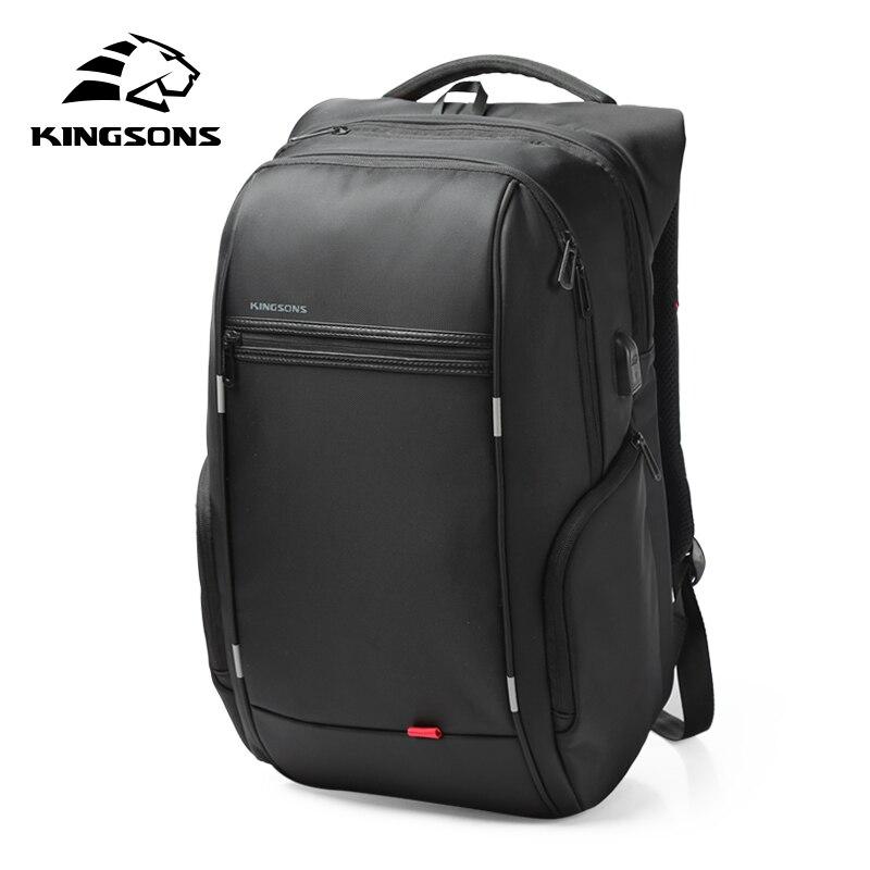 Kingsons KS3140 мужской женский рюкзак для ноутбука с USB зарядкой мульти-функция водостойкий деловой досуг дорожная школьная сумка рюкзак