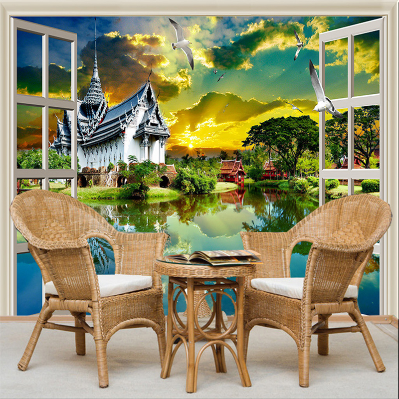 Online buy wholesale asian wall murals from china asian for Asian mural wallpaper
