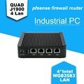 Barebone de mini pc j1900 firewall appliance 4 * intel nuc wg82583 lan industrial pc 1 * vga, 2 * usb Multi-función de firewall Router