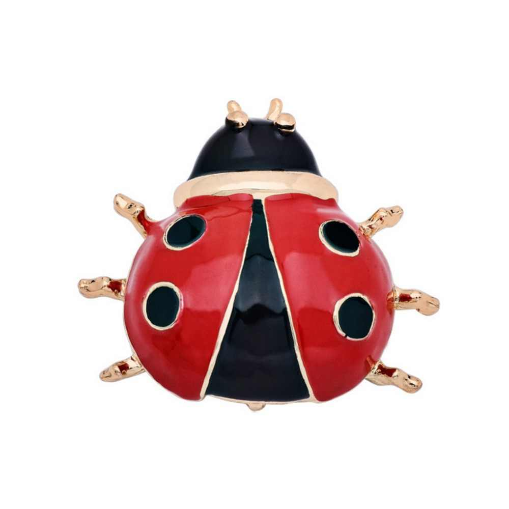 Mzc Poppy Lucu Beatle Bros Logam Anime Serangga Bros untuk Wanita Brosch Broch Lencana Pin Kerah Brocade Bijoux Perhiasan