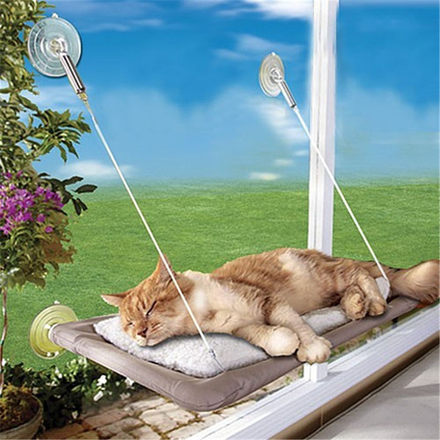 Admirable Us 23 95 Pet Hammock Window Mounted Cat Bed Sunny Seat Machine Washable Funny Pet Cat Hanger Bed 55 35Cm In Cat Beds Mats From Home Garden On Dailytribune Chair Design For Home Dailytribuneorg