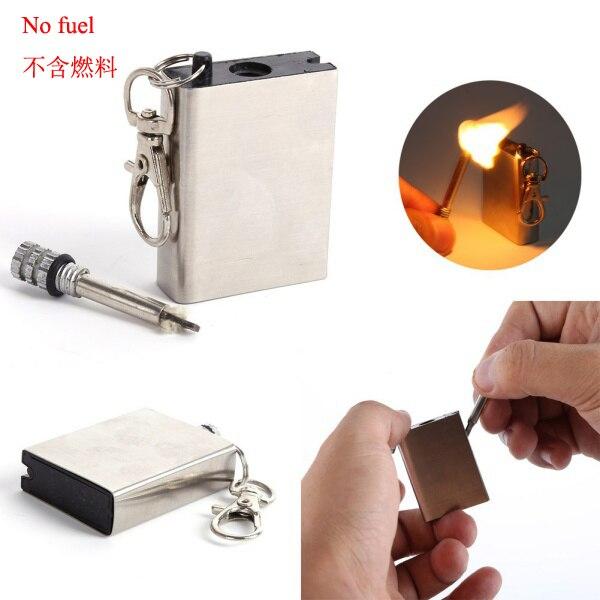 Fire Starter Magnesium Flint Stone Lighter EDC Emergency Survival Gear Whistle