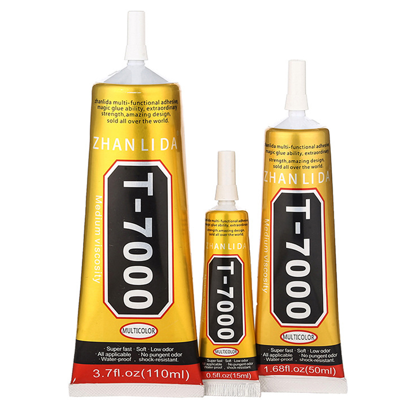 15ml T-7000 More Powerful New Epoxy Resin Adhesive T7000 Black Liquid Glue Super Sealant Handset Touch Screen Rack Maintenance